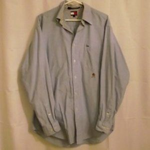 TOMMY HILFIGER Men's Dress Shirt Large
